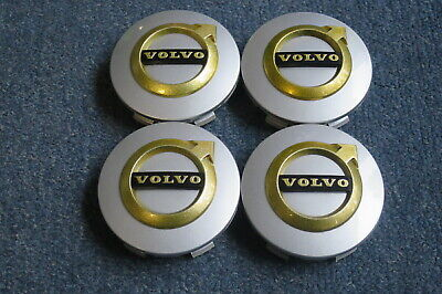 4 Nabendeckel/Radkappen für Alufelgen von Volvo in silber/schwarz/gold gebraucht kaufen  Oelsnitz