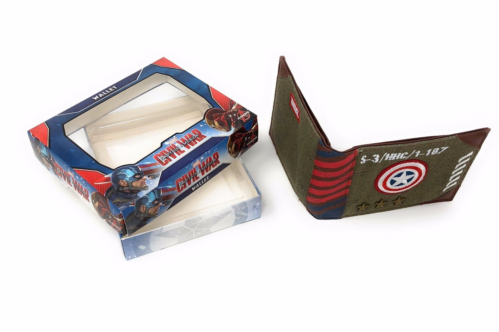 Captain America Military Army Canvas Wallet