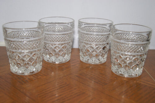 4 Anchor Hocking Wexford On the Rocks 8oz Low Ball Old Fashion Tumbler Glasses