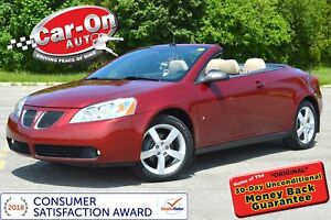 2008 Pontiac G6 GT Convertible LEATHER LOADED ONLY 57, 000 KM