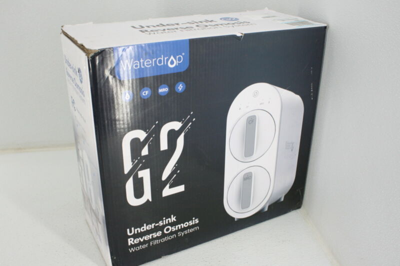 Waterdrop G2 RO Reverse Osmosis Water Filtration System Tankless Drain White