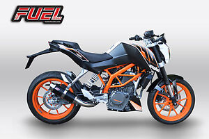 2011+ KTM Duke 390 F1R Race Black Stainless Moto GP Style Track Exhaust - LOUD