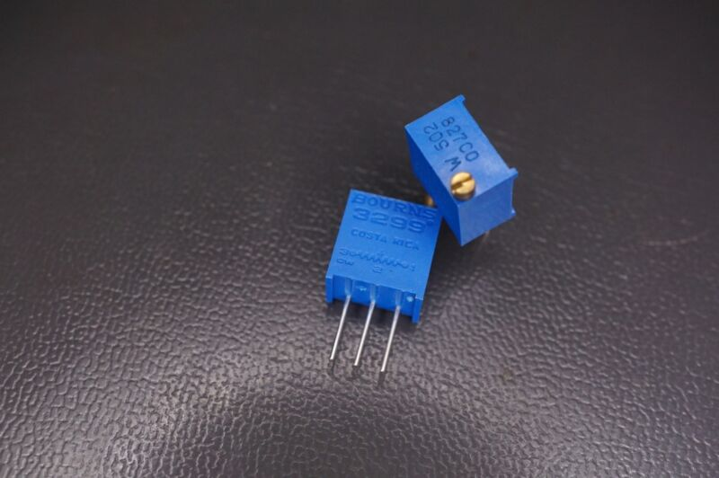 Lot of 2 3299W-1-502LF Bourns Trimmer Resistor 5k Ohm 10% 1/2W 500mW 25 Turns
