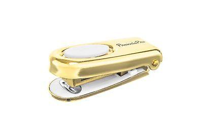 Praxxispro Mini Stapler Set Of 2 Built-in Staple Remover Gold