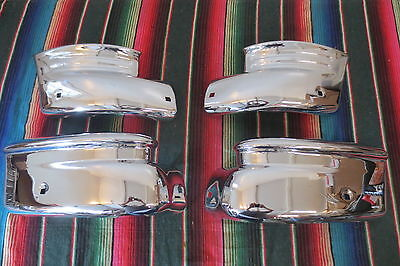 1949 1950 Chevy Accessory Front & Rear Bumper Ends Guards Wing Tips Original Set