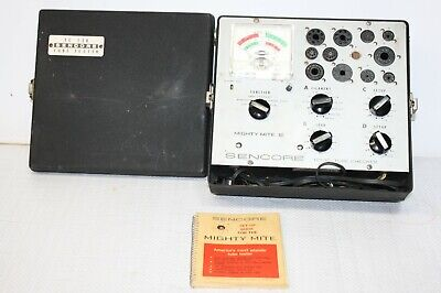 Vintage Sencore Mighty Mite Lll Tube Tester Tc-130 With Book Works