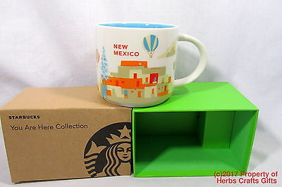Starbucks New Mexico You Are Here Mug Coffee Cup Green 16 oz New Original -g