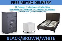 PU Leather Package Deals- Beds/Bedsides/Tallboy**FREE DELIVERY** Virginia Brisbane North East Preview