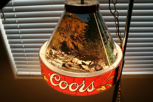 Vintage Coors Beer Colorado Rocky Mountain Scenes Advertising Bar Light RARE!!