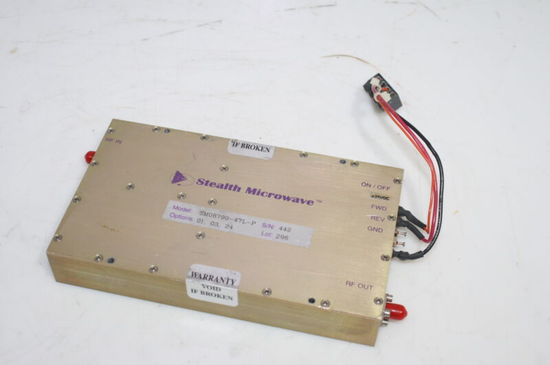 Stealth Microwave 50W Linear Power Amplifier SM08790-47L-P GSM Applications