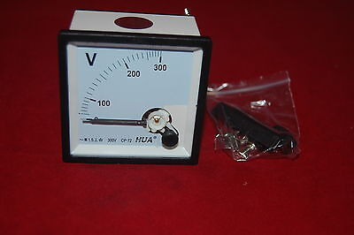 1 Pc Ac 0-300v Analogue Voltmeter 7272mm Voltage Panel Meter Directly Connect