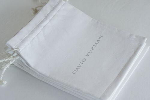 "David YURMAN White Leatherette LARGE 6""x6.5"" Cable Necklace Dust Bag Pouch"