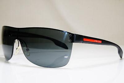PRADA Mens Designer Sunglasses Black Shield LOOSE ARM SPS 54P 1BO-1A1 26401
