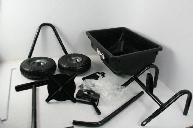Agri-Fab 45-0532 Pro Push Spreader 85 lb Capacity w Pneumatic Tires Black Steel