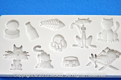 Silicone Mold Mould for sugarcraft, Clay - Cute Animal set #3
