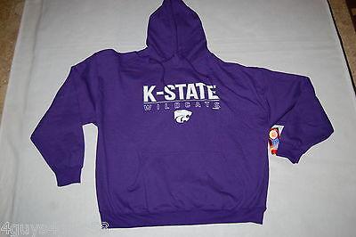 Mens HOODIE SWEATSHIRT Purple K STATE WILDCATS POWERCAT Kansas 2XL 50-52 - K State Powercat