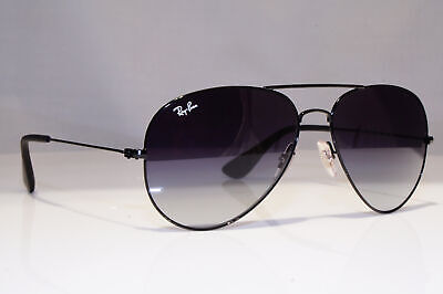 RAY-BAN Mens Designer Sunglasses Black Pilot Immaculate RB 3558 002/8G 24442