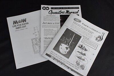 Set Of Mw Hand Clutch Live Pto Ih Farmall M Md Mv Mvd Owners Parts List Manuals