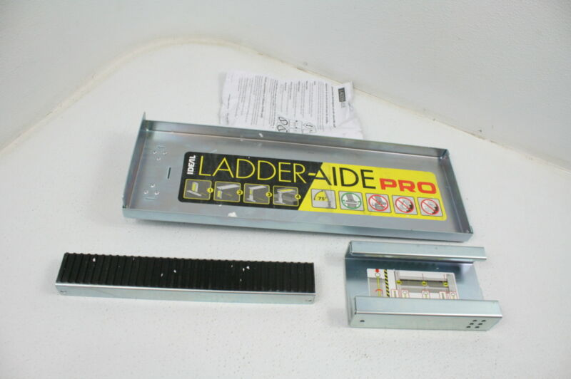 SEE NOTES Ideal Security LAP1 Adjustable Ladder Aide Pro Type 1AA Silver