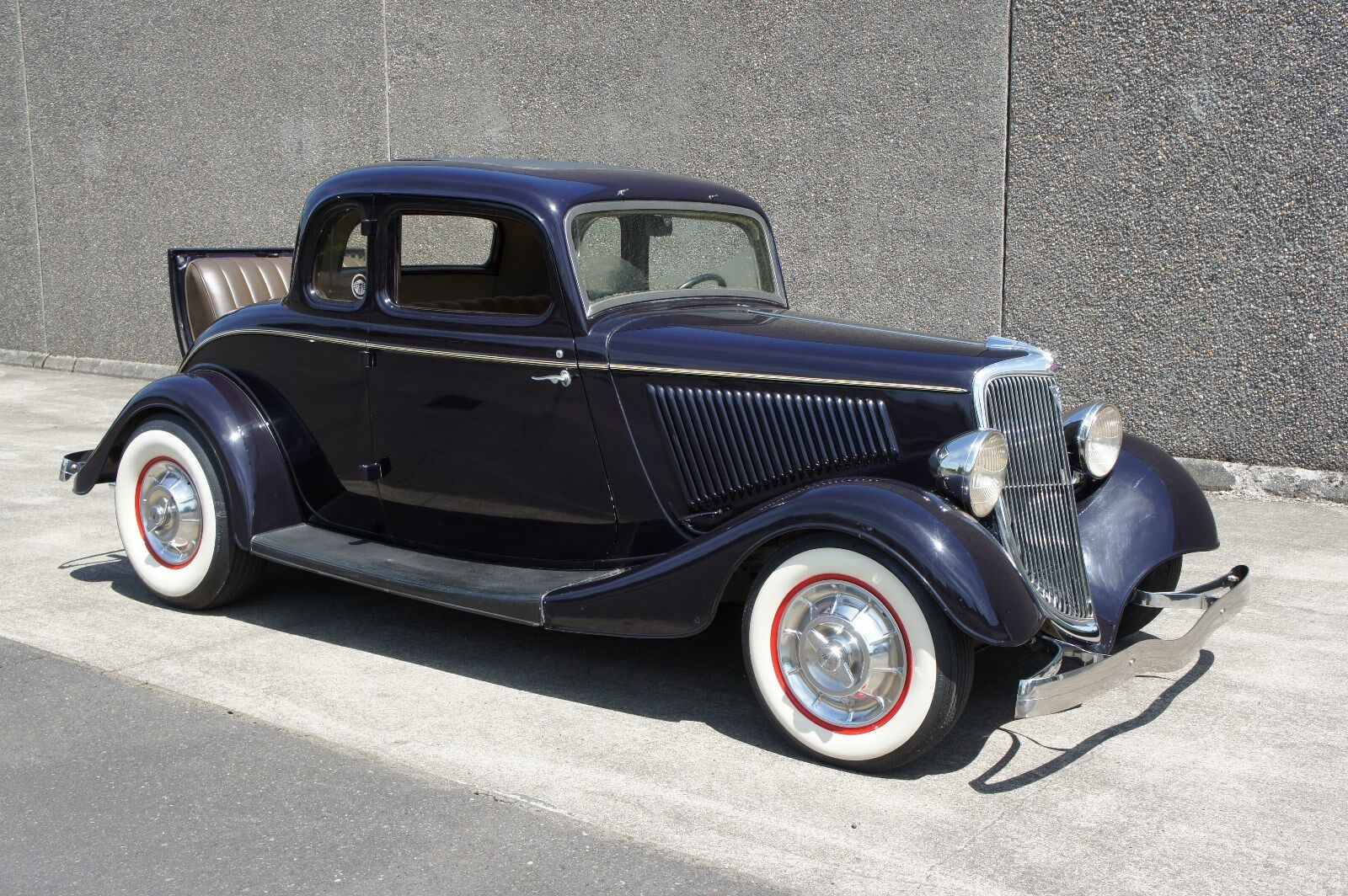 1934 Ford Model 40  1934 FORD 3W COUPE PERIOD SURVIVOR HOT ROD, EXCEPTIONAL CONDITION, ALL STEEL