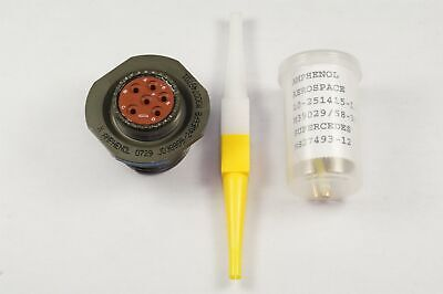 D3899924we6pb Amphenol Jam Nut Receptacle W Contacts 6 Pos Male 17 Shell Nos