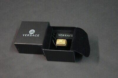 VERSACE Men Gold Square Medusa Signet Ring NEW NIB $325