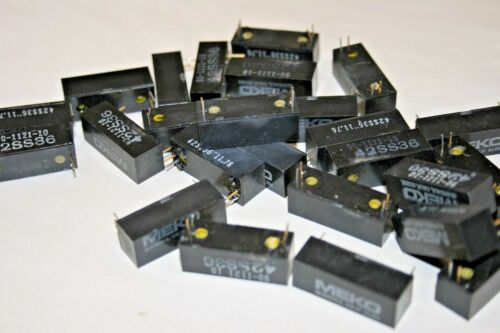 25 PACK  12VDC - SPST - N/O Reed Relay (101-636)