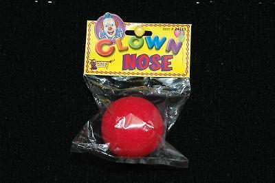 Rot Schaum Clown-Nase Zirkus Lustig Erwachsene Kinder Kostüm Zubehör Rudolph ()