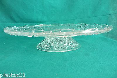 Kristall-Tortenplatte aus Frankreich, Hochplatte, Kuchenteller, Glasplatte,