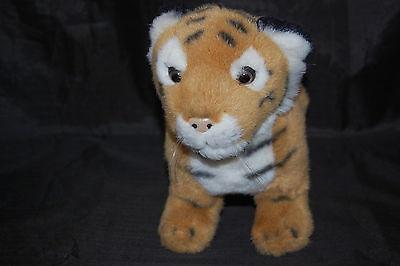 Discovery Channel Tigre Bengala Cub Realista Negro Blanco Marrón Peluche 10