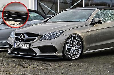 Schwert Frontspoiler ABS Mercedes E-Klasse AMG C207 A207 ABE schwarz glänzend