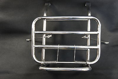 VESPA PX T5 LML P Series Stainless Steel Front Folding Luggage Rack Carrier SALE