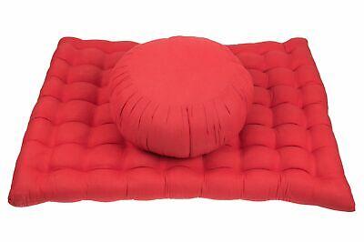Zafu Zabuton Meditation Seat Set Kapok red Yoga zen cotton lotus seat pillows for sale  Shipping to Ireland