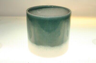 IVYLINE Blue/White Bi-Coloured Ceramic Plant Pot Height 165mm Width 165mm