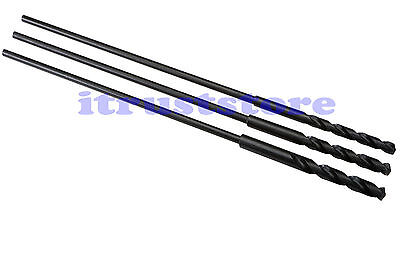 """3PC 25"""" EXTRA LONG REACH DRILL BIT SET KIT FOR WOOD DRILLING BELL HANGER HANGING"""