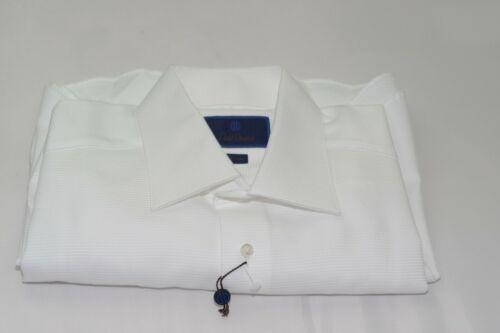 $135 NWOT David Donahue Trim Fit French Cuff Tuxedo or Dress Shirt 16 1/2-32/33
