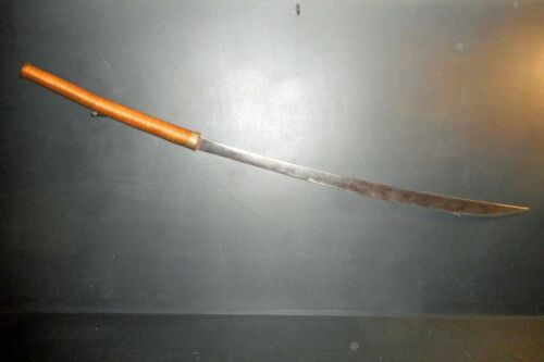 OLD LONG SABER DHA FROM SOUTH EAST ASIA, CIRCA 1950, GOLDEN TRIANGLE BURMA LAOS
