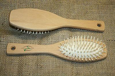 neue Holzbürste Haarbürste  Ahornholz, echte Holzstifte, Bürsten Made in Germany
