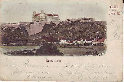 Germany AK Eichstatt - River Bank & Burg 1899 Cover to Speyer am Rhein postcard