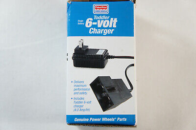 Fisher Price Power Wheels 6-Volt  Battery Charger Toddler Blue P6829 (Open Box)