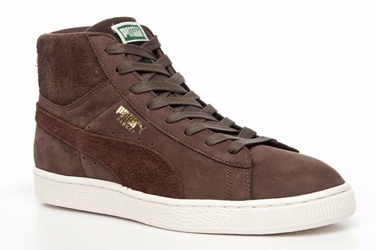 7537415c2963 Details about PUMA Mens Trainers Basket Classic Basketball Shoes Brown  Suede Sneakers Trainers
