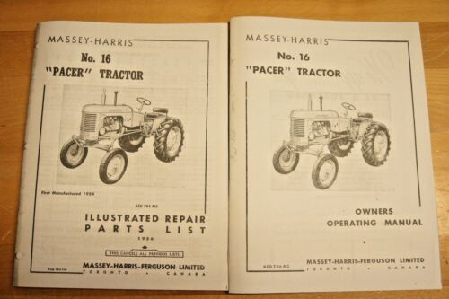 Massey Harris Pacer No 16 Tractor Owner