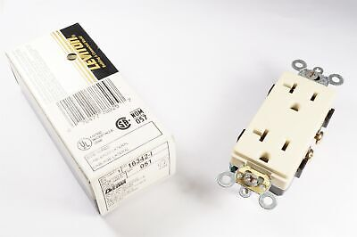 16342-I Leviton Decora Duplex Receptacle Outlet 20A 125V Side Wire 5-20R Ivory ()
