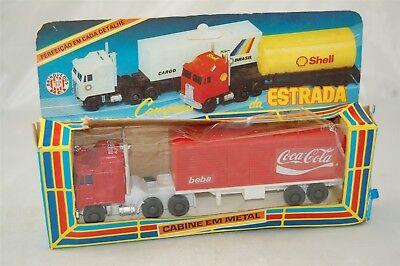 Brinquedos REI King Toys Coca Cola Coke Delivery Truck Tractor Trailer KS 54 C