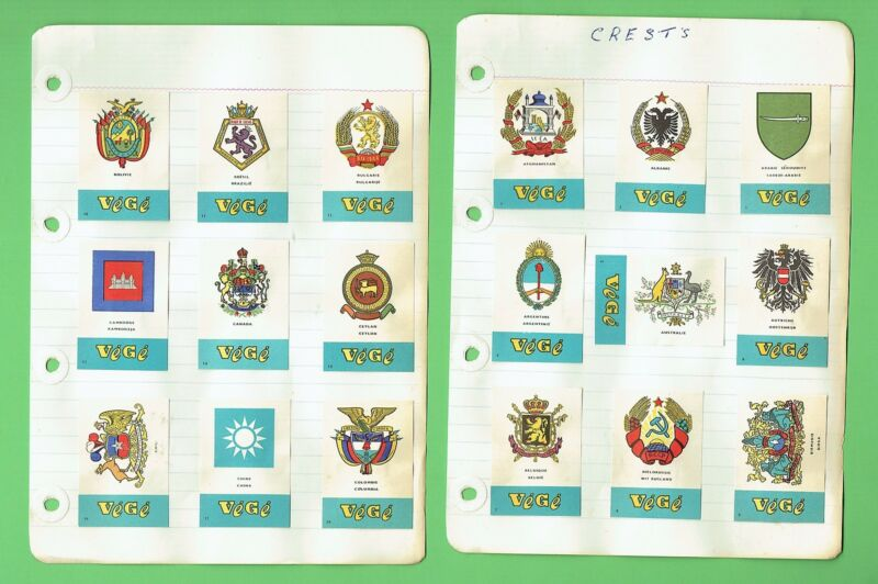 #D241. SET OF 90   DUTCH  COUNTRY CRESTS  MATCHBOX  LABELS, ABOUT 1970