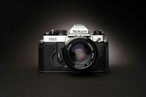 Genuine Real Leather Half Camera Case Bag Cover for Nikon FM2 FM FM2n FE FE2