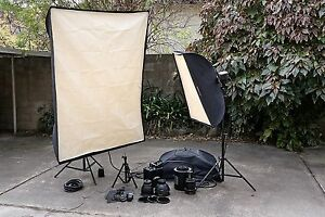 Photography Pro Lighting Kit (Bowens 2400) with many accessories.
