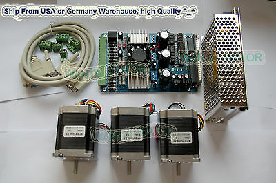 Usa Shipwantai Nema 23 Stepper Motor 185oz-in2a 3 Axis Board 3d Cnc Kit