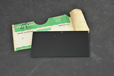 Vtg Thermo Green Label Welders Welding Filter Lens Plate - Shade 12 Usa Made 1