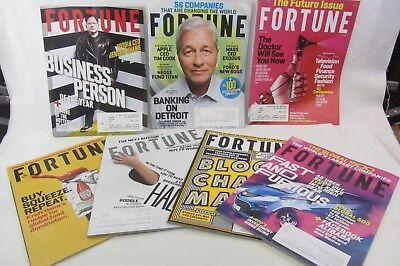7 Lot   Fortune Magazine 2017 Heinz  Future  Bitcoin  Jamie Dimon  Jensen Huang